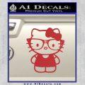 Hello Kitty Nerd Decal Sticker D1 Red 120x120