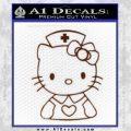 Hello Kitty Nurse Decal Sticker BROWN Vinyl 120x120