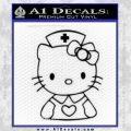 Hello Kitty Nurse Decal Sticker Black Vinyl 120x120