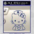 Hello Kitty Nurse Decal Sticker Blue Vinyl 120x120