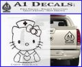 Hello Kitty Nurse Decal Sticker Carbon FIber Black Vinyl 120x97