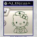 Hello Kitty Nurse Decal Sticker Dark Green Vinyl 120x120