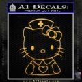 Hello Kitty Nurse Decal Sticker Gold Vinyl 120x120