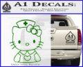 Hello Kitty Nurse Decal Sticker Green Vinyl Logo 120x97