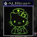 Hello Kitty Nurse Decal Sticker Lime Green Vinyl 120x120