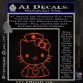 Hello Kitty Nurse Decal Sticker Orange Emblem 120x120