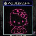 Hello Kitty Nurse Decal Sticker Pink Hot Vinyl 120x120