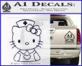 Hello Kitty Nurse Decal Sticker PurpleEmblem Logo 120x97