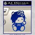 Hello Kitty Punk Emo Decal Sticker Blue Vinyl Black 120x120