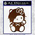 Hello Kitty Punk Emo Decal Sticker Brown Vinyl Black 120x120