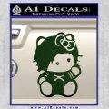 Hello Kitty Punk Emo Decal Sticker Dark Green Vinyl Black 120x120