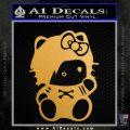 Hello Kitty Punk Emo Decal Sticker Gold Metallic Vinyl Black 120x120