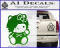 Hello Kitty Punk Emo Decal Sticker Green Vinyl Black 120x97