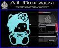 Hello Kitty Punk Emo Decal Sticker Light Blue Vinyl Black 120x97