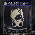 Hello Kitty Punk Emo Decal Sticker Metallic Silver Vinyl Black 120x120