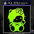 Hello Kitty Punk Emo Decal Sticker Neon Green Vinyl Black 120x120