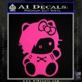 Hello Kitty Punk Emo Decal Sticker Neon Pink Vinyl Black 120x120