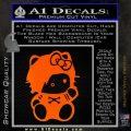 Hello Kitty Punk Emo Decal Sticker Orange Emblem Black 120x120