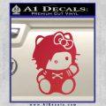 Hello Kitty Punk Emo Decal Sticker Red Vinyl Black 120x120