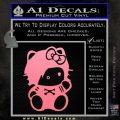 Hello Kitty Punk Emo Decal Sticker Soft Pink Emblem Black 120x120