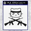 Hello Kitty Rambo Guns Decal Sticker Black Vinyl Black 120x120