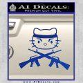 Hello Kitty Rambo Guns Decal Sticker Blue Vinyl Black 120x120