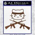 Hello Kitty Rambo Guns Decal Sticker Brown Vinyl Black 120x120