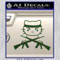 Hello Kitty Rambo Guns Decal Sticker Dark Green Vinyl Black 120x120