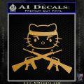 Hello Kitty Rambo Guns Decal Sticker Gold Metallic Vinyl Black 120x120