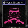 Hello Kitty Rambo Guns Decal Sticker Neon Pink Vinyl Black 120x120