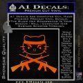 Hello Kitty Rambo Guns Decal Sticker Orange Emblem Black 120x120