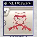 Hello Kitty Rambo Guns Decal Sticker Red Vinyl Black 120x120