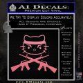 Hello Kitty Rambo Guns Decal Sticker Soft Pink Emblem Black 120x120