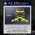 Hello Kitty Rambo Guns Decal Sticker Yellow Vinyl Black 120x120