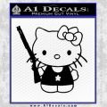 Hello Kitty Shot Gun Decal Sticker Black Shotgun Vinyl Black 120x120