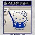 Hello Kitty Shot Gun Decal Sticker Shotgun Blue Vinyl Black 120x120