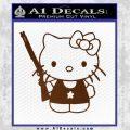 Hello Kitty Shot Gun Decal Sticker Shotgun Brown Vinyl Black 120x120