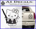 Hello Kitty Shot Gun Decal Sticker Shotgun CFB Vinyl Black 120x97