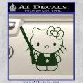 Hello Kitty Shot Gun Decal Sticker Shotgun Dark Green Vinyl Black 120x120
