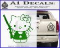 Hello Kitty Shot Gun Decal Sticker Shotgun Green Vinyl Black 120x97
