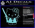 Hello Kitty Shot Gun Decal Sticker Shotgun Light Blue Vinyl Black 120x97