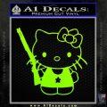 Hello Kitty Shot Gun Decal Sticker Shotgun Neon Green Vinyl Black 120x120