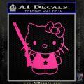 Hello Kitty Shot Gun Decal Sticker Shotgun Neon Pink Vinyl Black 120x120