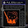 Hello Kitty Shot Gun Decal Sticker Shotgun Orange Emblem Black 120x120