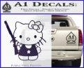 Hello Kitty Shot Gun Decal Sticker Shotgun Purple Vinyl Black 120x97
