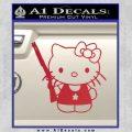 Hello Kitty Shot Gun Decal Sticker Shotgun Red Vinyl Black 120x120
