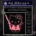 Hello Kitty Shot Gun Decal Sticker Shotgun Soft Pink Emblem Black 120x120