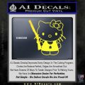 Hello Kitty Shot Gun Decal Sticker Shotgun Yellow Vinyl Black 120x120