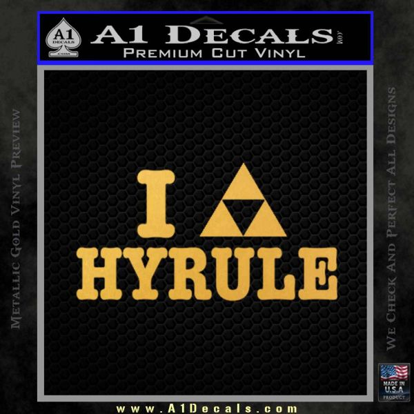 I Heart Hyrule Triforce Decal Sticker Zelda Gold Vinyl