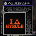 I Heart Hyrule Triforce Decal Sticker Zelda Orange Emblem 120x120